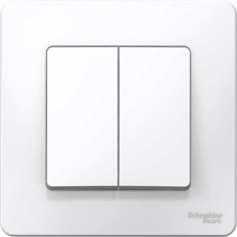 Выключатель встраиваемый двухклавишный Schneider Electric Blanca BLNVS006501 (белый) фото