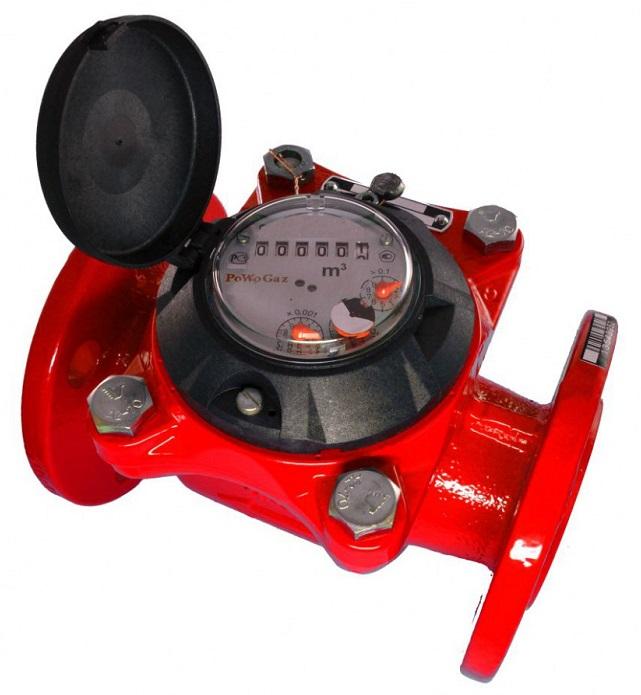 Счетчик для горячей воды турбинный Тепловодомер ВСГН-100, D100 мм фото
