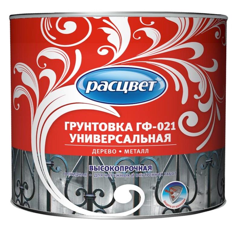 Расцвет ГФ-021 2.2 кг, Грунтовка антикоррозионная алкидная (белая) фото
