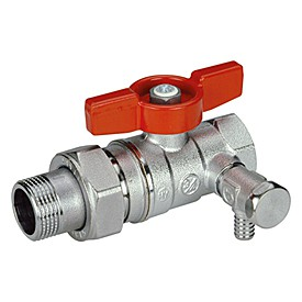 Кран шаровой Giacomini R259Sх003 стандартнопроходной латунный с отводом и сливом.