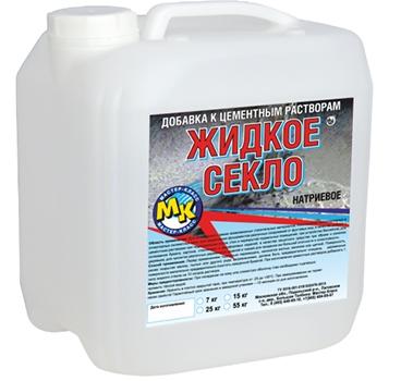 Жидкое стекло натриевое Мастер Класс, 15 кг фото