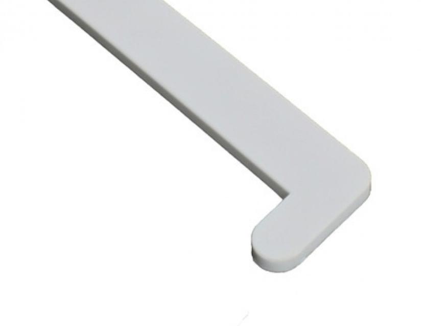 Витраж VPL 70 см, Заглушка для подоконника ПВХ правая (белая матовая)