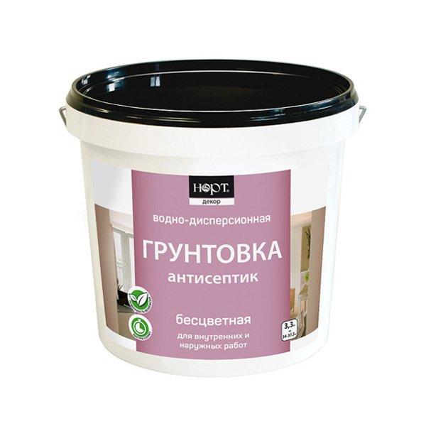 Грунтовка-антисептик Норт, (бесцветный), 10.5 кг фото
