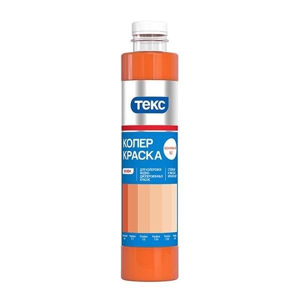 Текс Профи №02 0.75 л, Колер-краска (оранжевая) фото