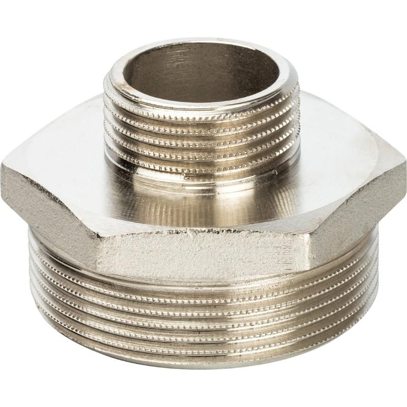 Ниппель переходной Stout SFT-0004-000021 2х1 дюйм никелированный с наружной резьбой фото