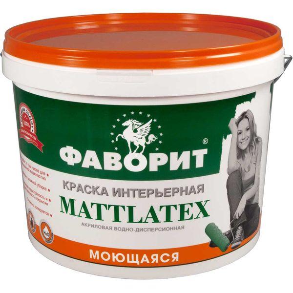 Краска интерьерная Фаворит ВДАК-20ИС Mattlatex влагостойкая (супербелая), 15 кг фото