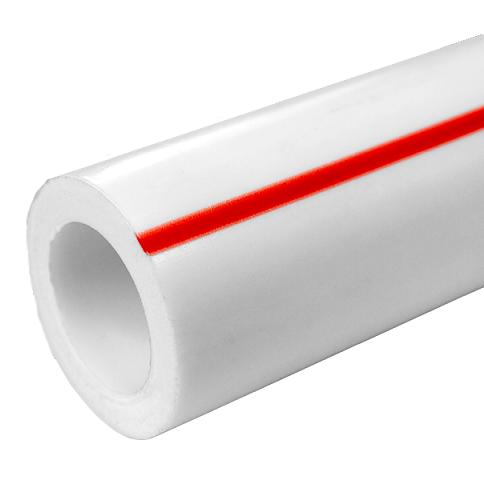 Труба FDplast PN 20 PPRC 63x10,5 мм белая фото