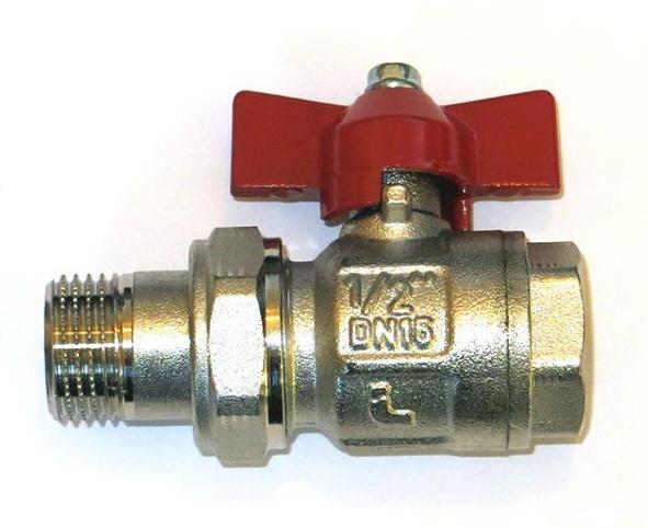 1/2″ Giacomini R859 ВР/американка Кран шаровой полнопроходной (бабочка).