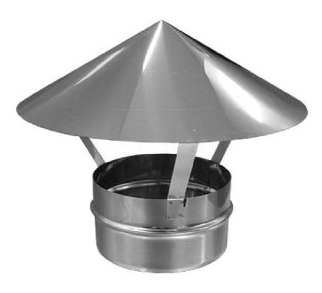 Зонт оцинкованный для воздуховода, диаметр 200 мм