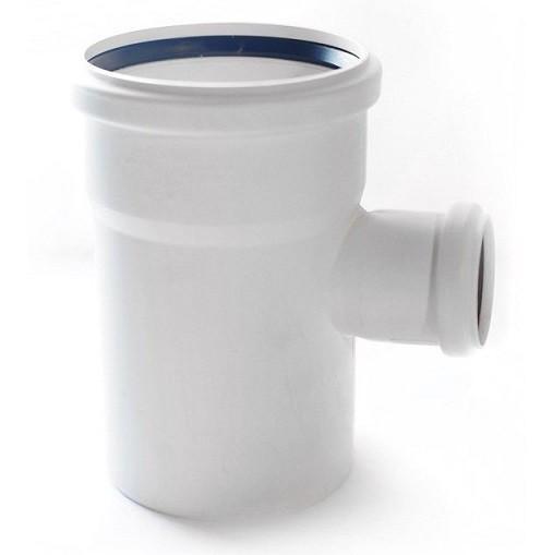 Тройник канализационный RAU-PP Rehau Raupiano Plus 110х50х110 мм 87 градусов белый фото