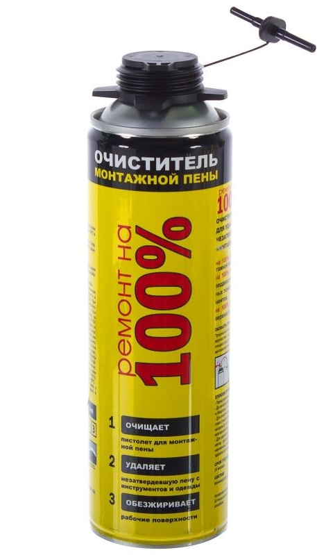 Очиститель монтажной пены Ремонт на 100% 500 мл.