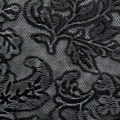 Декоративная панель МДФ Deco Цветы черный и серебро 114 2800х640 мм фото