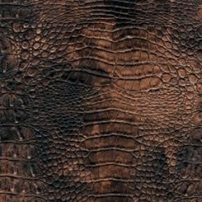 Декоративная панель МДФ Deco Крокодил зеленая медь 126 2800х390 мм фото