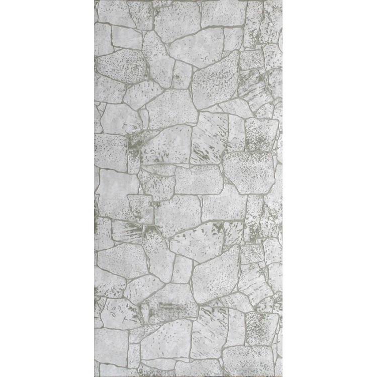 Стеновая панель МДФ Акватон Камень белый с тиснением 2440х1220 мм фото