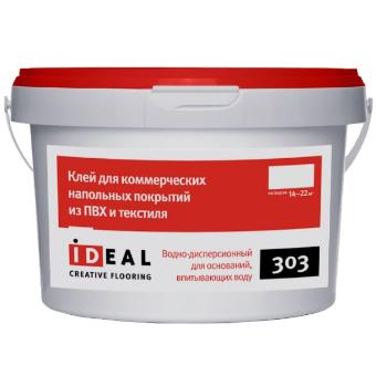 Клей Ideal 303 для коммерческого ПВХ-линолеума 14 кг фото