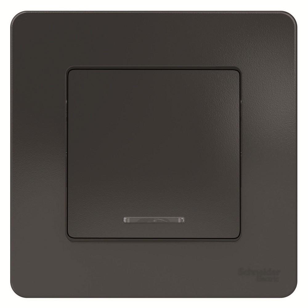 Выключатель накладной Schneider Electric Blanca BLNVS010116 одноклавишный с индикатором антрацит фото