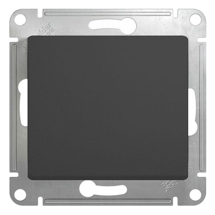 Переключатель встраиваемый перекрестного Schneider Electric Glossa GSL000771 одноклавишный антрацит фото