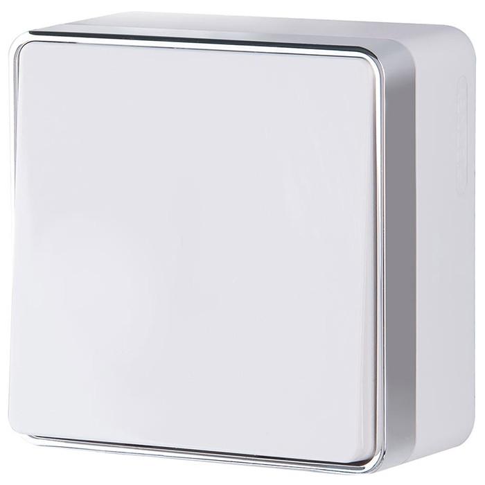 Выключатель накладной Werkel Gallant WL15-01-01 одноклавишный белый фото