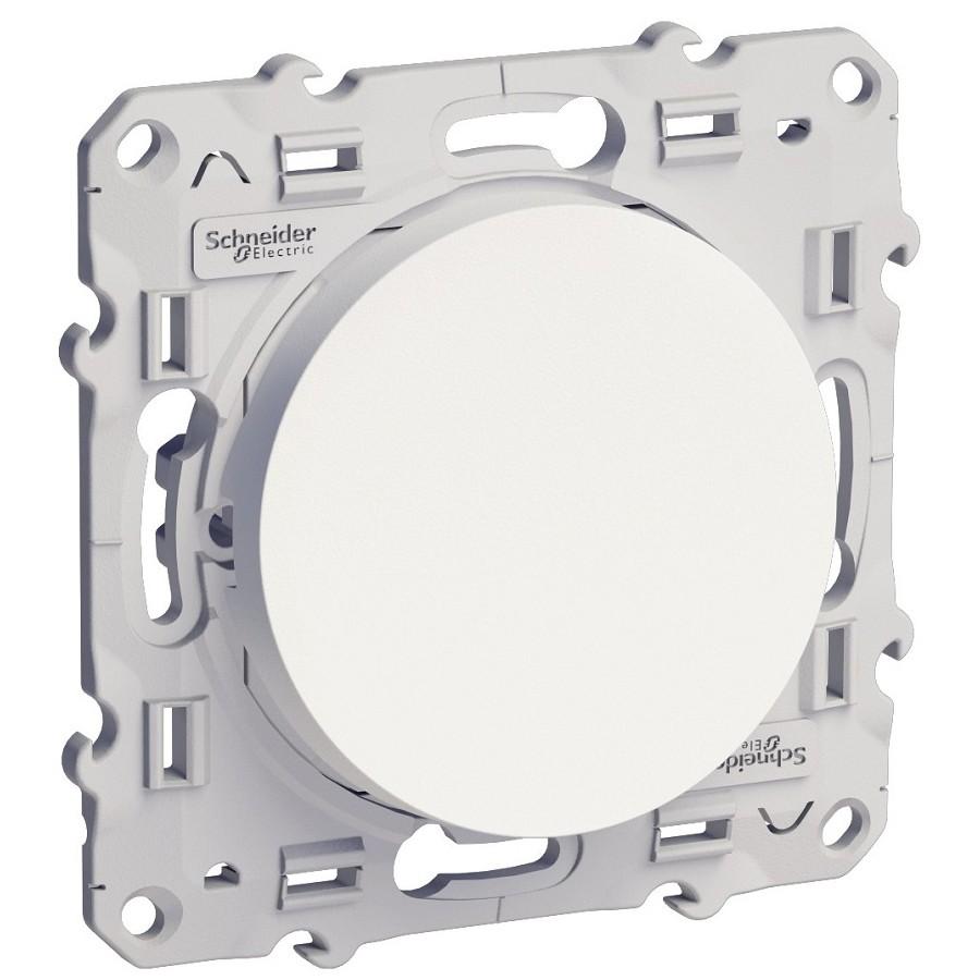 Переключатель встраиваемый Schneider Electric Odace S52R203 одноклавишный белый с индикатором фото