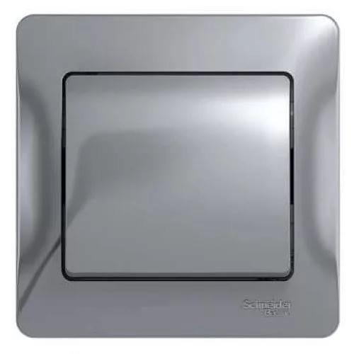 Выключатель накладной Schneider Electric Glossa GSL000312 одноклавишный алюминий фото