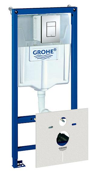 Система инсталляции для унитазов Grohe Rapid SL 38775001 4 в 1 с кнопкой смыва Grohe фото