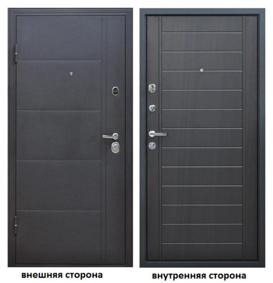 Дверь входная Форпост Эверест левая серый графит-венге 860х2050 мм фото