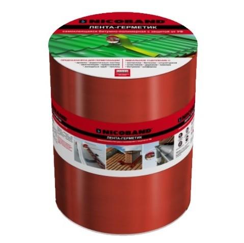 Лента герметизирующая Nicoband 10000х200 мм красная самоклеящаяся.