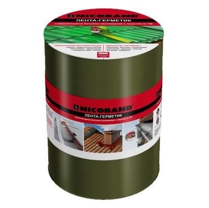 Лента герметизирующая Nicoband 3000х150 мм зеленая самоклеящаяся.