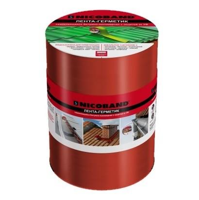 Лента герметизирующая Nicoband 3000х150 мм красная самоклеящаяся.