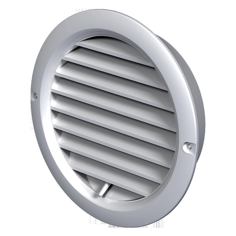 Вентс МВ 100 бВР 128 мм, Решетка вентиляционная приточно-вытяжная (белая) фото