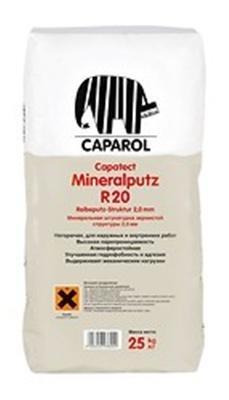 Caparol Capatect Mineralputz R 20, 25 кг, Штукатурка декоративная минеральная фото