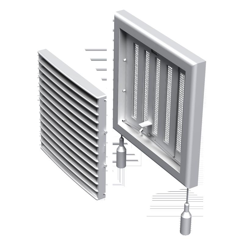 Вентс МВ 101 Рс 154х154 мм, Решетка вентиляционная приточно-вытяжная (белая) фото