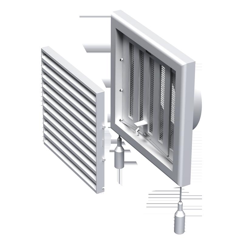 Вентс МВ 100 ВРс 154х154 мм, Решетка вентиляционная приточно-вытяжная (белая) фото