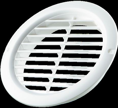РВС РВ 125 160 мм, Решетка вентиляционная приточно-вытяжная с (белая) фото