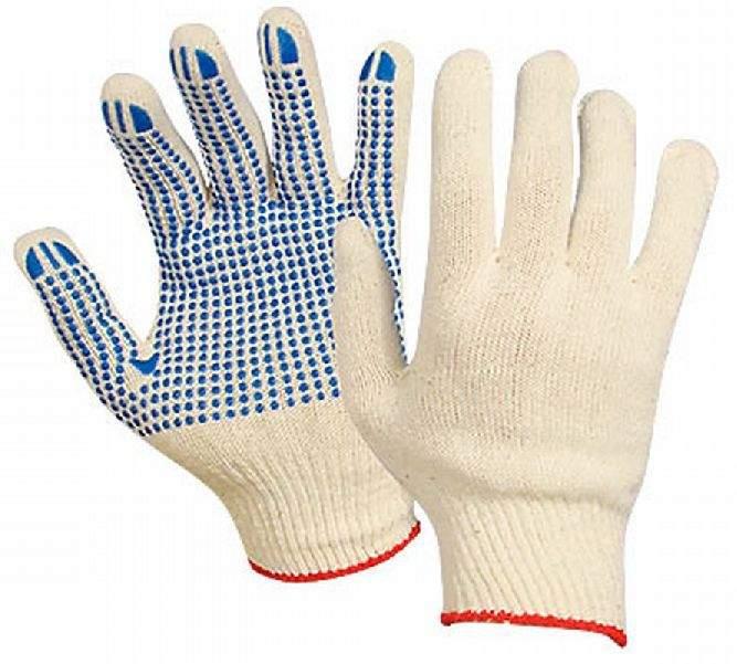 Перчатки ХБ с ПВХ покрытием (размер 10/XL), 6 нитей