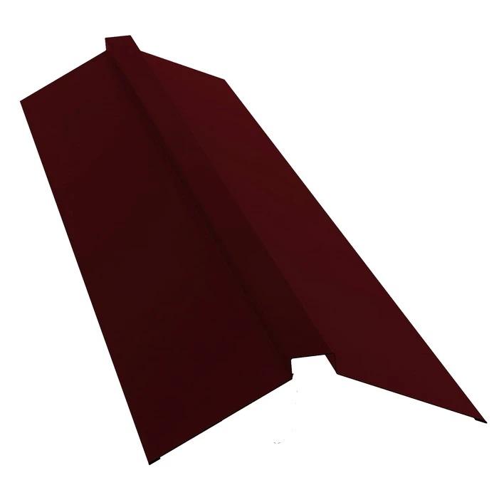Планка плоского конька Grand Line Стальной бархат RR 32 (темно-коричневая), 150х40х150 мм фото