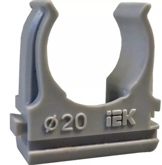 Держатель IEK, 20 мм, для труб с защелкой