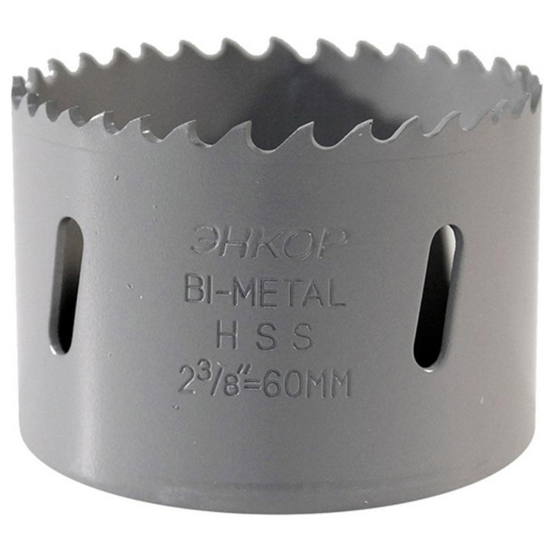 Коронка по металлу Энкор Bi-Metal М3 24160 D60 мм.