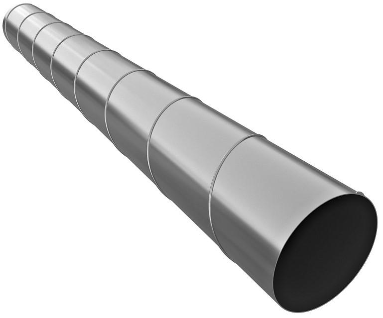 Галвент, 250 мм, Труба вентиляционная оцинкованная спирально-навивная фото