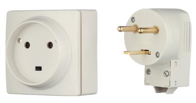 Комплект для подключения электроплит Legrand Quteo (белый), наружный фото