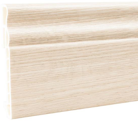 Плинтус ПВХ Мастер Декор Стандарт дуб седой 2500х100х15 мм.