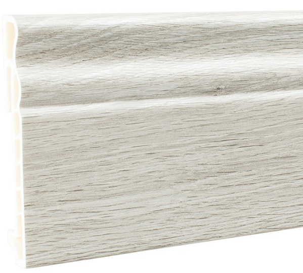 Плинтус ПВХ Мастер Декор Эксклюзив дуб мэджик серебристый 2500х100х15 мм.