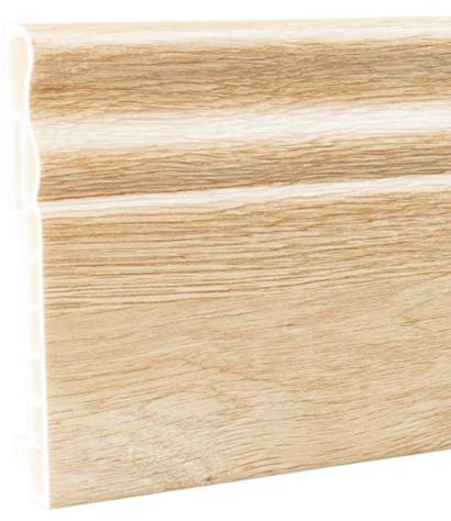Плинтус ПВХ Мастер Декор Эксклюзив дуб мэджик янтарный 2500х100х15 мм.