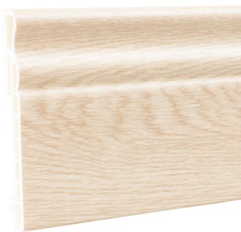 Плинтус ПВХ Мастер Декор Стандарт ясень бежевый 2500х100х15 мм.