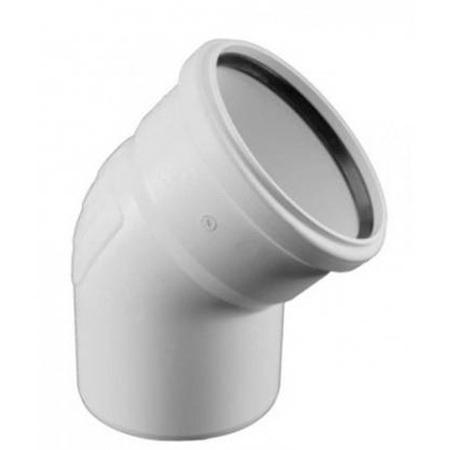 Отвод канализационный Rehau Raupiano Plus, диаметр 50 мм (угол 45°) фото