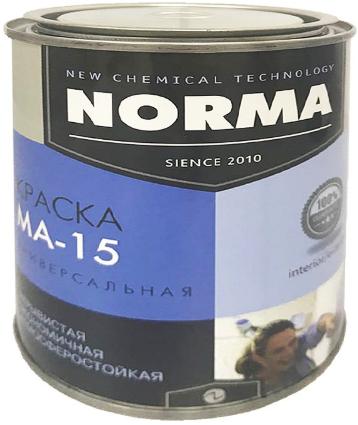 Краска масляная Novocolor ГОСТ-71 МА-15 красная 1 кг.