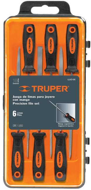 Набор напильников прецизионных Truper LIJO-6X с ручкой 152 мм 6 шт.