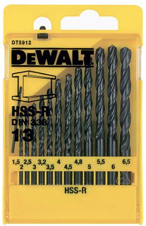 Набор сверл по металлу DeWalt HSS
