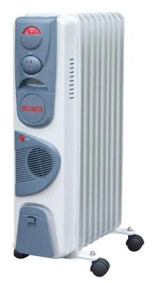Радиатор масляный Ресанта ОМ-7НВ, 7 секций (с тепловентилятором) фото
