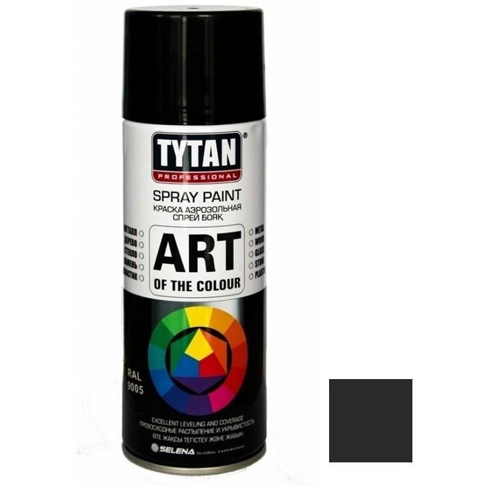 Tytan Professional Art of the colour 400 мл Эмаль аэрозольная (черный глянец).
